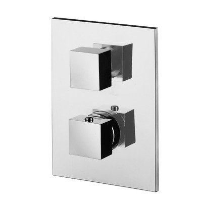 UPC 888173276824, Level Thermostatic Concealed Shower Faucet w Diverter and 3 Outlets (Matte Chrome)