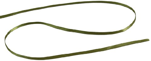 Yard 50 Olive - Kel-Toy Double Face Satin Ribbon, 1/8-Inch by 50-Yard, Olive Green