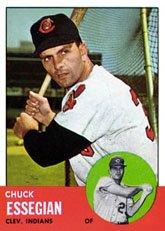 (1963 Topps Regular (Baseball) Card# 103 Chuck Essegian of the Cleveland Indians VGX Condition)