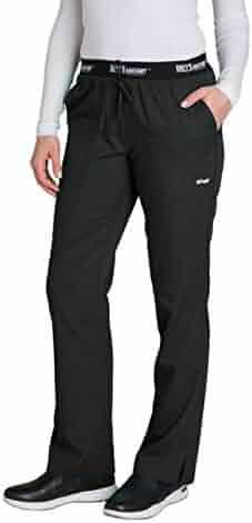 Grey's Anatomy Active 4275 Women's Modern Fit 3-Pocket Logo Waistband Drawstring Scrub Pants
