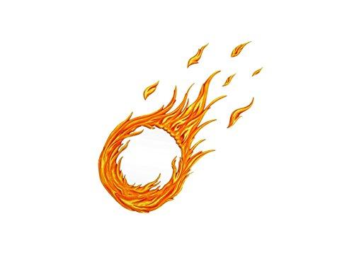 - Fire MIRROR, firewall - fireball, flame, arcade fire, hearts on fire, fireball gifts, ball of fire, fire flames, flame decals, flame design - decorative wall mirror - Handmade by Marvellous Mirrors