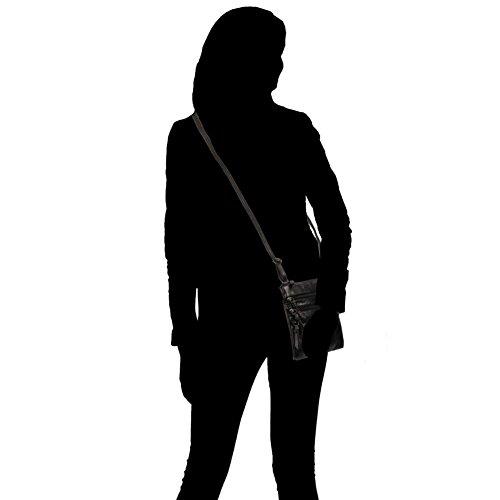Black Crossbody Zip Multi Wilsons Womens Leather Leather qgPYY0f1