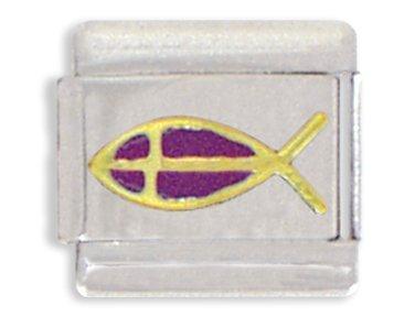 (Christian Fish Italian Charm Bracelet)