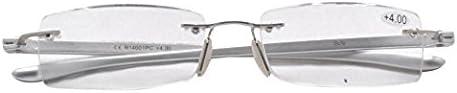 Eyekepper Lunettes de lecture//de Vue en acier inoxydable verre Acrylique Leger pour homme femme