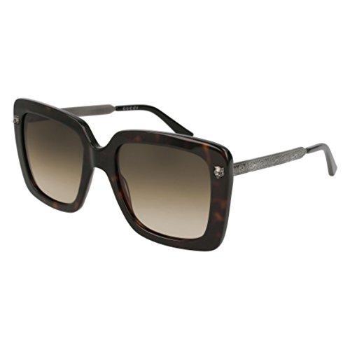 GUCCI GG0216S 002 Havana Oversized Square - Gucci Oversized Square Sunglasses