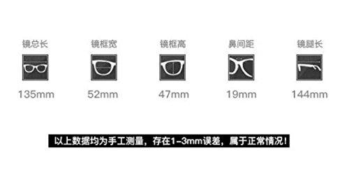 bastidor Lucha Banchao plata Color radiaciones marco cuadro mate goggle azul bastidor gafas equipo retrovisor retro contra de Gun Han KOMNY las redondeado masculino plano femenino de HAd11