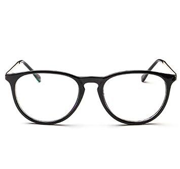 WFFH Retro Ronda Óptica Metal Marco Gafas De Sol Moda Conducción Polarizado Gafas,Black