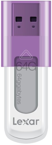 Lexar JumpDrive S50 64GB USB Flash Drive LJDS50-64GABNL (Purple)
