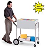 Charnstrom Medium Solid Metal Cart with 10-Inch Rear Tires (B241)