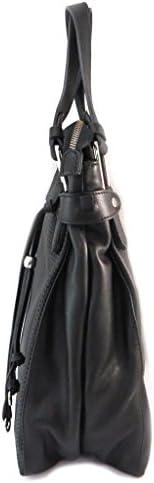 Gianni Conti P3003 - Borsa in pelle nero - 36x34x12 cm.