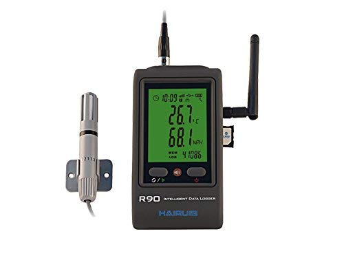 MeterTo LCD GSM GPRS Temperature Humidity Data Logger R90EX-G 0~100% RH / -40-100℃ SMS alarming Message USB Records 65000 for Pharmaceutical, Transportation, Refrigeration Industry