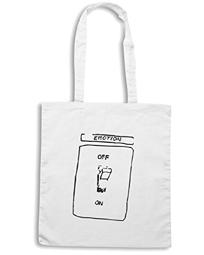 T-Shirtshock - Bolsa para la compra TDM00067 emotion on off Blanco