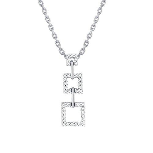 Giantti 14carats Diamant Pendentif Femme Collier (0.3594CT, VS/Si-clarity, Gh-colour)