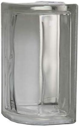 ガラスブロック (厚み80mmクリア色コーナー)gb9280