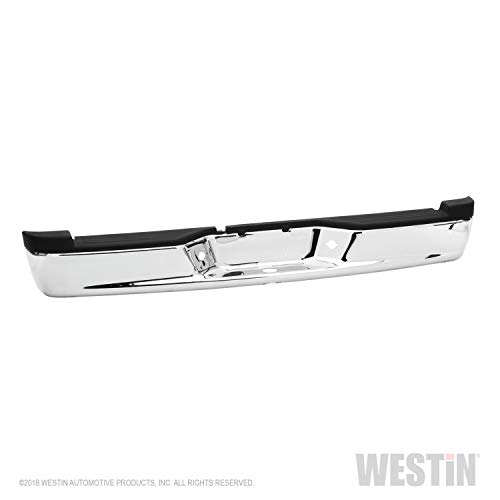 Fey 31014 Perfect Match Custom Fit Chrome Replacement Rear Bumper with Mounting Brackets from Westin