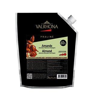Valrhona 50% Crunchy Almond Hazelnut Praliné - 3kg Pouch