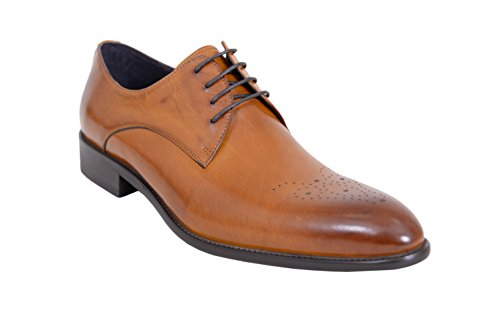 Carrucci Cognac Oxford Leather Broguing product image