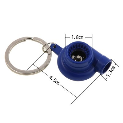 Tera® Llavero de Turbo Compresor con Rotacion Llavero de Rueda de Paleta Giratoria Llavero (Azul)