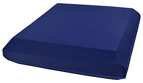 Xcel Yoga Meditation Block, Eco-Friendly Mini Bolster, Size 12 Inches x 12 Inches x 2.5 Inches