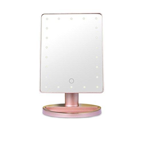 Lyus luz natural con luz espejo de maquillaje espejo de cambiador con visualización táctil de intensidad regulable,...