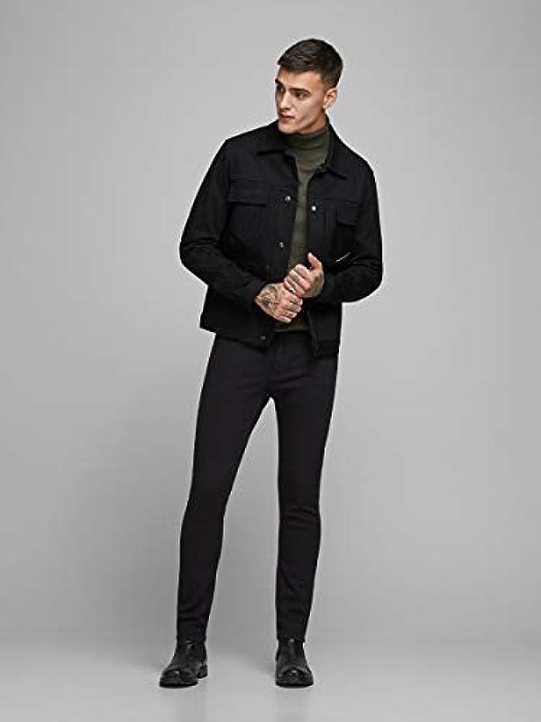 JACK & JONES Male Slim Fit Jeans Glenn ORIGINAL AM 815 (Jjiglenn Jjoriginal Am 816 Noos), kolor: czarny denim , rozmiar: 36: Odzież