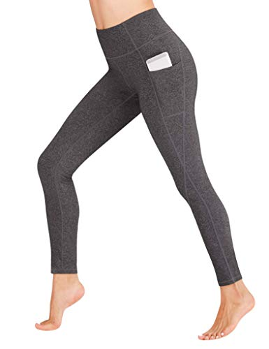 Heathyoga Yoga Pants with Pockets Extra Soft Leggings with Pockets for Women Non See-Through High Waist Workout Leggings Charcoal