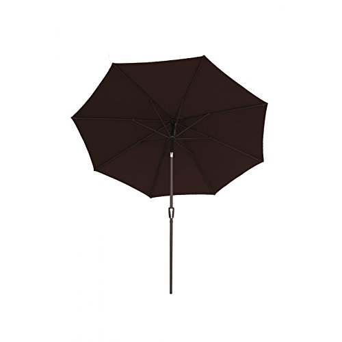 Patio Deluxe - Sunbrella 9-Ft Patio Fabric Aluminum Market Umbrella with Auto (Deluxe Auto Tilt Umbrella)