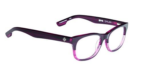 Spy Dylan Rectangular Eyeglasses,Crimson Smoke,53 - Frames Spy