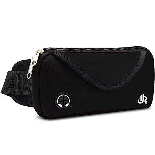 Y&R Direct Fanny Pack Running Belt Pouch Slim Soft Polyester Water Resistant Waist Bag for Man Women Walking Hiking Jogging Carrying iPhone Xs / 8 Plus Samsung S10 Plus/Note 8 - Waist Polyester Bag