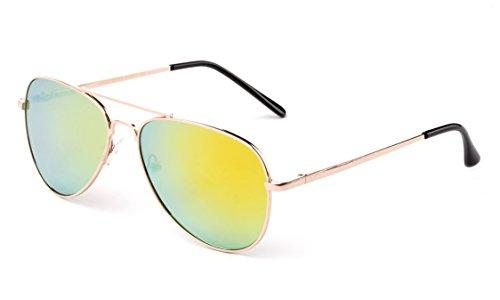 Kids Teens Fashion Metal Aviator Sunglasses Stainless Steel Frame Spring Hinge by Kyra Kids (Image #3)