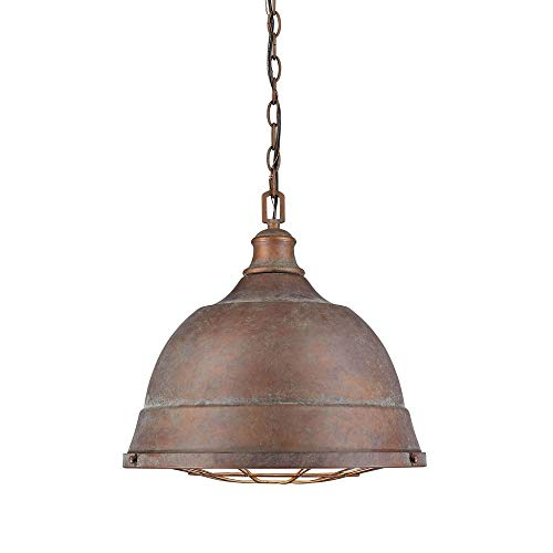 Golden Lighting 7312-L CP Two Light Pendant Bronze