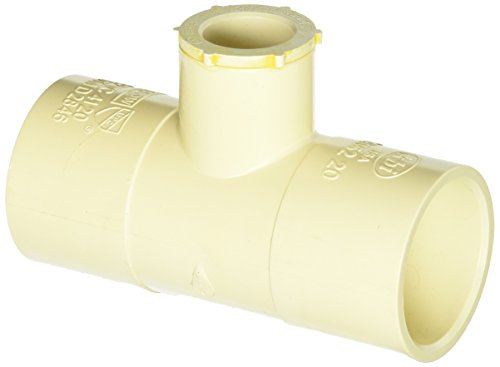 King Brothers Inc. RCR-552-S 1-1/2-Inch by 1-1/2-Inch by 3/4-Inch Solvent PXL CPVC Reducing Tee, Tan ()
