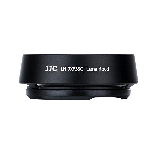JJC Dedicated Metal Lens Hood Shade for Fuji Fujifilm Fujinon XF 35mm F2 R WR Lens and Fujinon XF 23mm F2 R WR Lens,Bayonet Type Black Color,Replaces Fujifilm OEM LH-XF35-2 Lens Hood