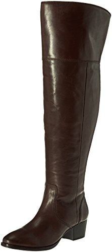 FRYE Women's Clara OTK Leather Slouch Boot Espresso