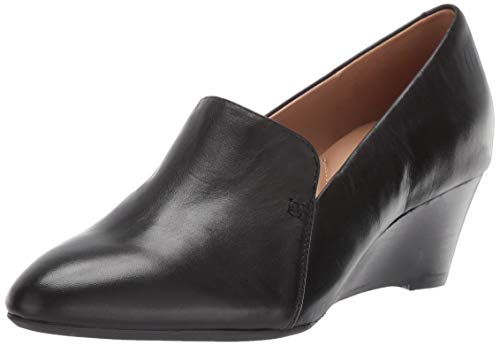 Aerosoles Women's Full Circle Pump, Black Leather, 6 M US