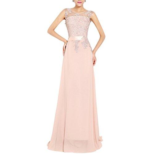 vestito festa donna in da cerimonia party chiffon emmarcon da elegante Rosa lungo damigella abito PnZw0R