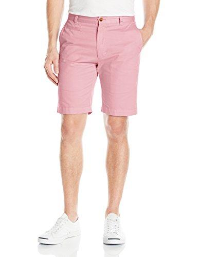 Louis Raphael Men's Slim Fit Flat Front Garment Dye Short, Light Pink, 32W