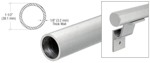Brushed Stainless 1-1/2'' Diameter Pipe Rail Tubing by CR Laurence