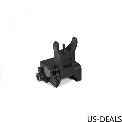 (US-DEALS Flip Up Iron Sight Front Sight Only, Precision Machined, Mil Spec Picatinny Rail Mount, Bead Blasted)