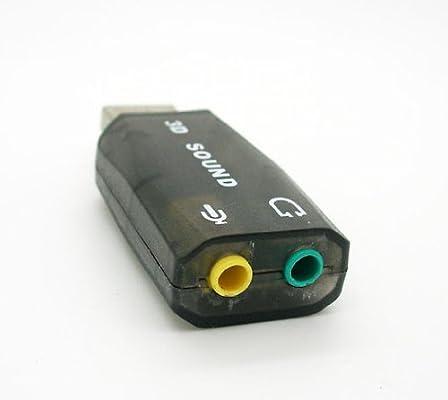 Tarjeta de Sonido USB 5.1 3D Externa Adaptador Audio y Microfono ...