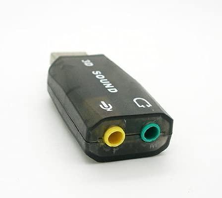 Tarjeta de Sonido USB 5.1 3D Externa Adaptador Audio y Microfono Virtual DJ 2253
