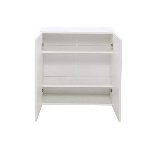(30x30x12.5 in. Alexandria Wall Cabinet in White Melamine and Door in)