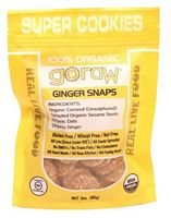 Go Raw Cookie Gngrsnp Sprtd Org 3 Ounce (Pack of 4)