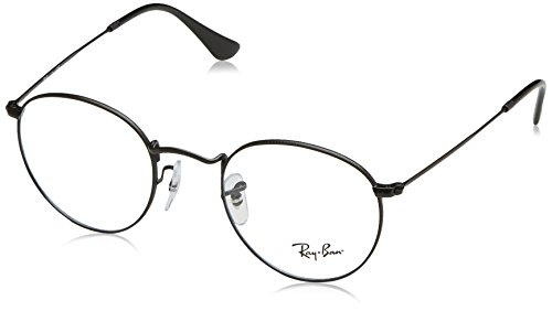 Ray-Ban Men's RX3447V Round Metal Eyeglasses Matte Black - Ray Round Ban Black Metal