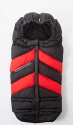 7AM Enfant Blanket 212 Chevron Extendable Baby Bunting Bag Adaptable for Strollers, Black/Red