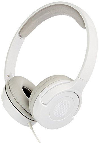AmazonBasics Lightweight On-Ear Headphones - White
