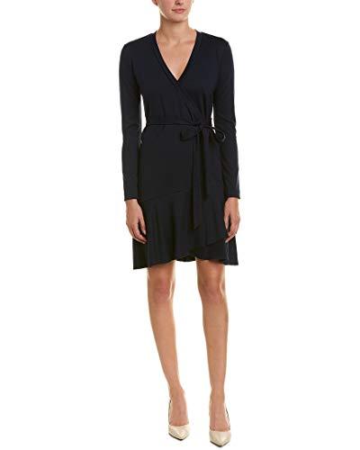 (Nicole Miller Women's Ponte Wrap Dress, Navy)