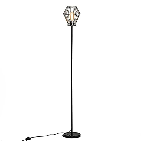 lampe sur pied moderne qazqa design industriel moderne rustique lampadaire lampe de sol lampe. Black Bedroom Furniture Sets. Home Design Ideas