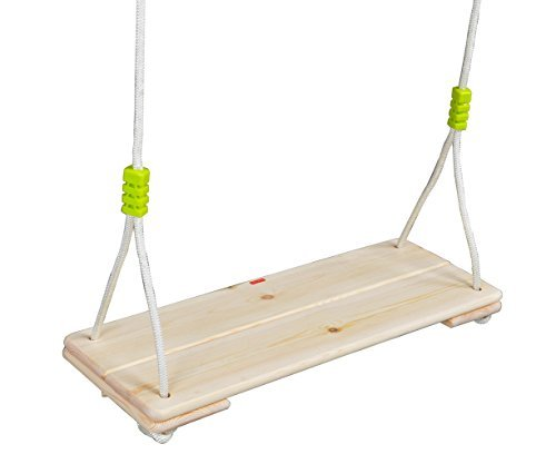 happypie adulto Super Big Árbol de madera para colgar columpios Asiento con 170,2cm Altura Ajustable Cuerda de nailon por...