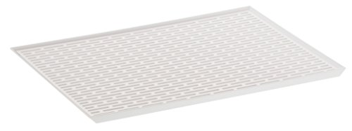 YAMAZAKI home 3328 Tower Sink Side Glass Drainer Wide WH Space Saving, One Size, White